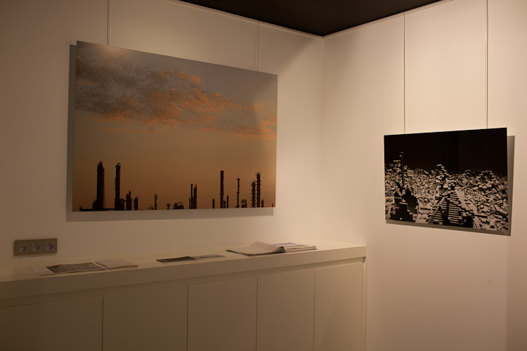 Refinery Flock (150x100cm) and Sichuan (90x50cm) DIBOND
