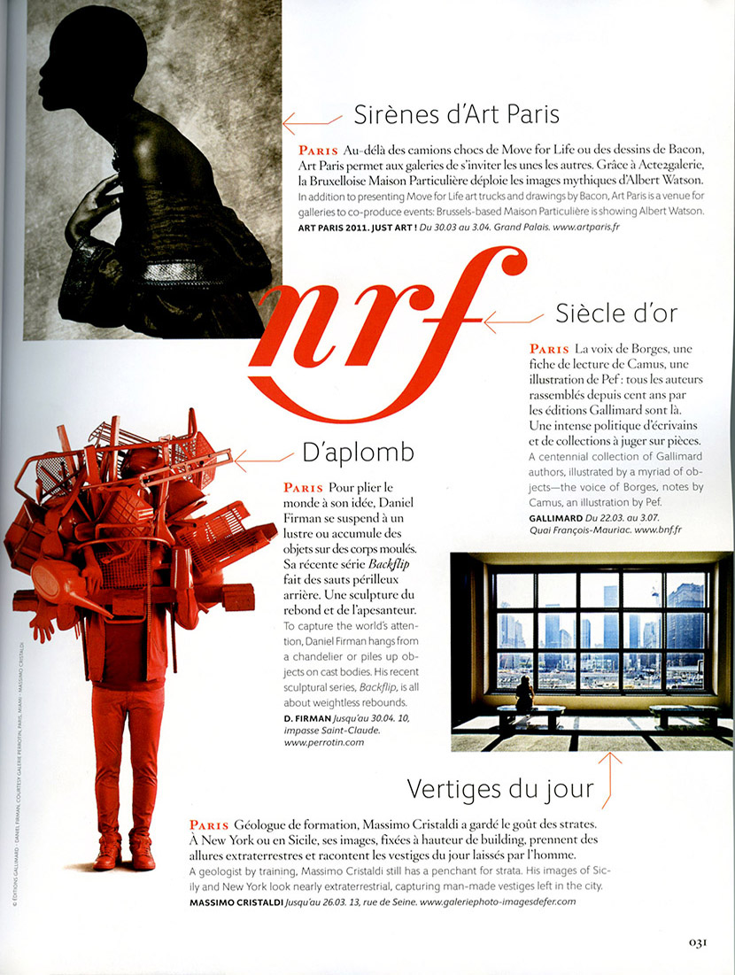 Bien-aimé Attractions on Air France Magazine | Massimo Cristaldi RV46