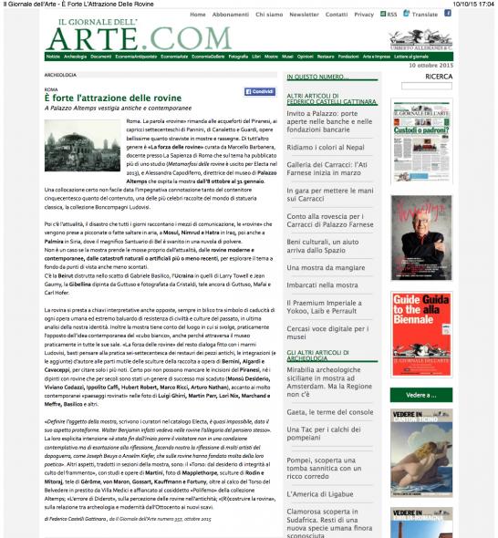 Il Giornale dell'Arte - È Forte L'Attrazione Delle Rovine