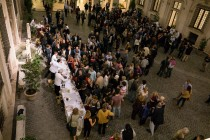 Palazzo Altemps courtyard: the buffet